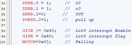 رجیستر DDR و PORT و وقفه